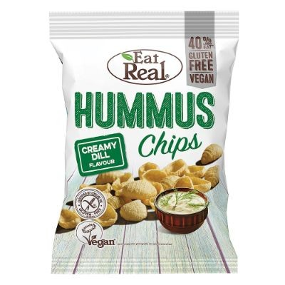 Eat Real Chips Hummus Creamy Dill 45g
