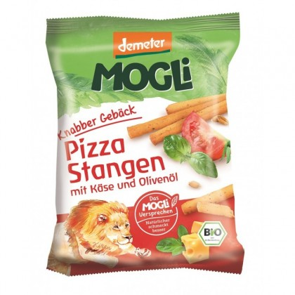 Mogli BIO Sticks pizza cu branza si ierburi aromate 75g