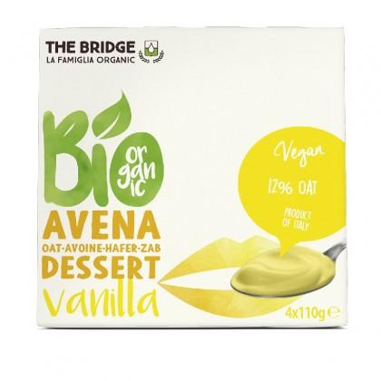 The Bridge BIO Desert din ovaz cu vanilie 4x110g