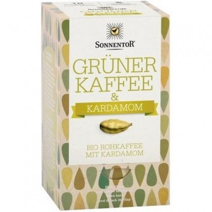 Sonnentor BIO Cafea verde cu cardamom 52g (18 plicuri)