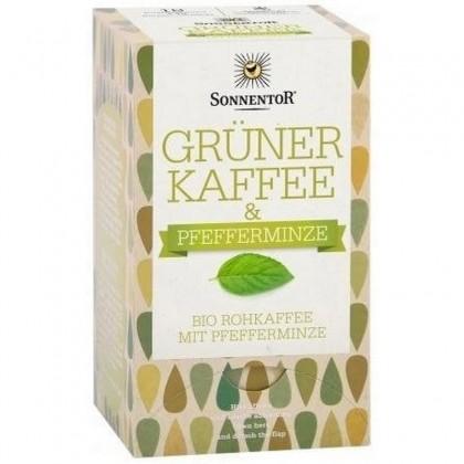 Sonnentor BIO Cafea verde cu menta 54 g (18 plicuri)
