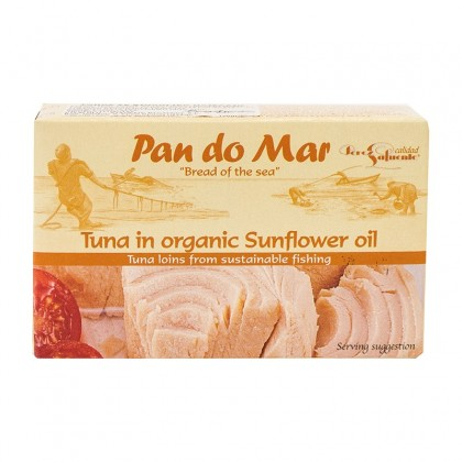Pan do mar ton in ulei de floarea soarelui bio 120gr