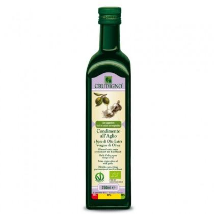 Crudigno bio ulei masline cu usturoi 0.25 l