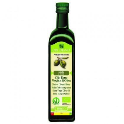 Crudigno bio ulei masline extravirgin extras la rece italian 0.5 l