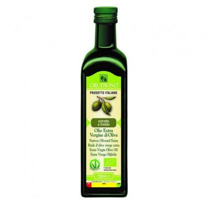 Crudigno bio ulei masline extravirgin extras la rece italian 0.75 l