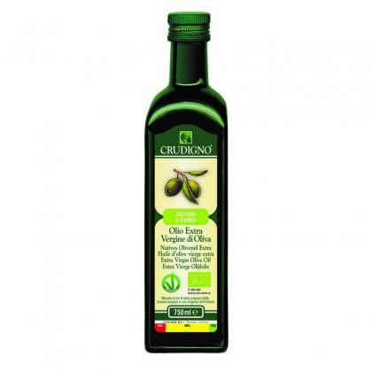 Crudigno bio ulei masline extras la rece 0.75 l - mediteranean