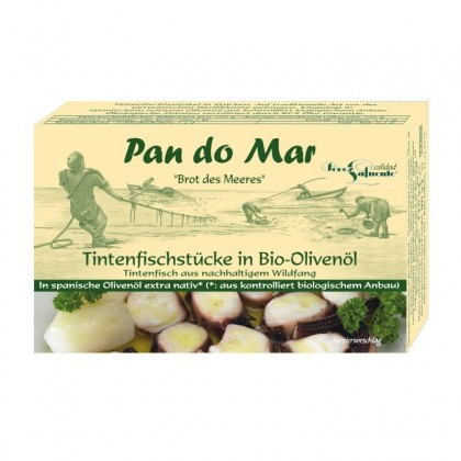 Pan do Mar Caracatita in ulei de masline bio 120g