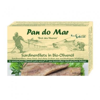 Pan do Mar Sardine file in ulei de masline 120g