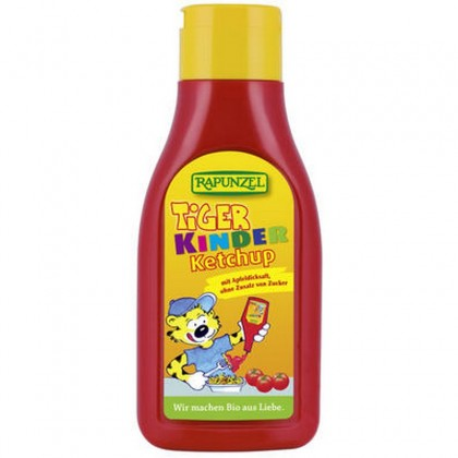 Rapunzel BIO Ketchup de tomate Tiger pentru Copii Indulcit cu nectar de mere 500ml