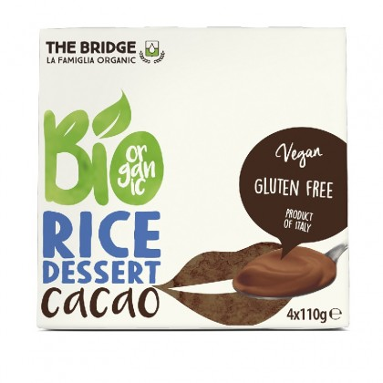 The Bridge BIO Desert din orez cu cacao 4x110g