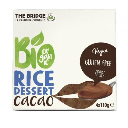 The Bridge BIO Desert din orez cu cacao 4x110g