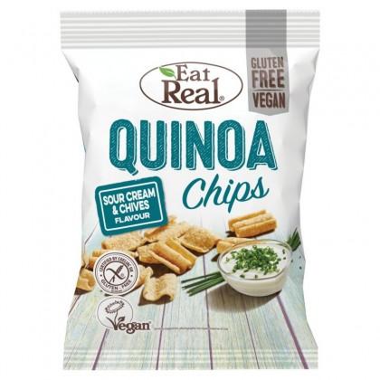 Eat Real Chips Quinoa Smantana si Arpagic 30g