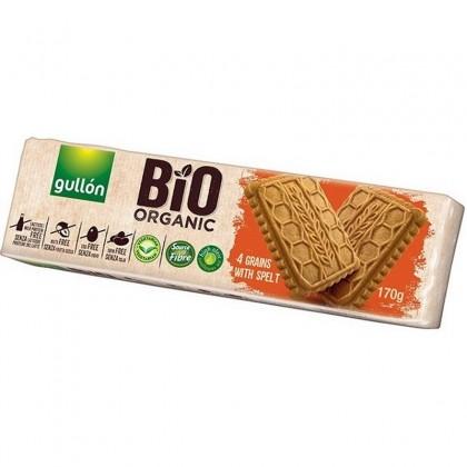 Gullon Biscuiti 4 cereale cu spelta BIO 170g