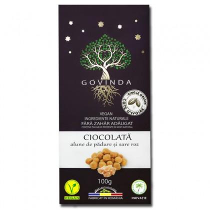 Govinda Ciocolata cu alune si sare de Himalaya 10g