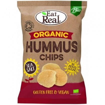 Eat Real BIO Chips Hummus cu sare de mare 100g