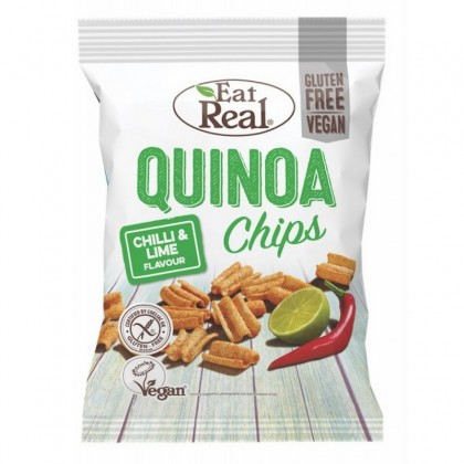 Eat Real Chips quinoa cu chilli si lime 30g
