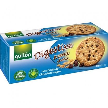 Gullon Biscuiti digestivi cu ovaz si chips de ciocolata neagra 425g