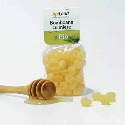 Apiland Bomboane cu miere si pin 100g