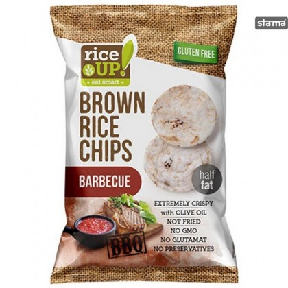 Rice Up Chips orez cu gust barbeque natur 60g