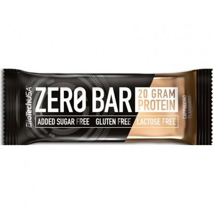 Biotech Zero Bar Baton proteic cu cappucino 50g