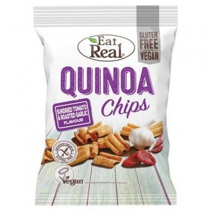 Eat Real Chips Quinoa cu rosii si usturoi 30g