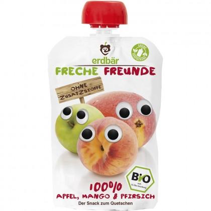 Erdbar Freunde BIO Piure de mere mango si piersici 100g