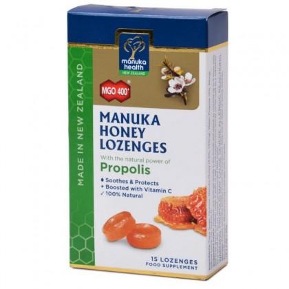 Manuka Health Bomboane cu miere Manuka MGO 400+ si propolis 65g