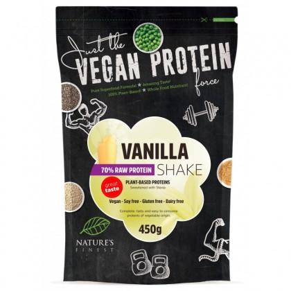 Nature's Finest Shake Protein 70% cu vanilie si stevie  450gr