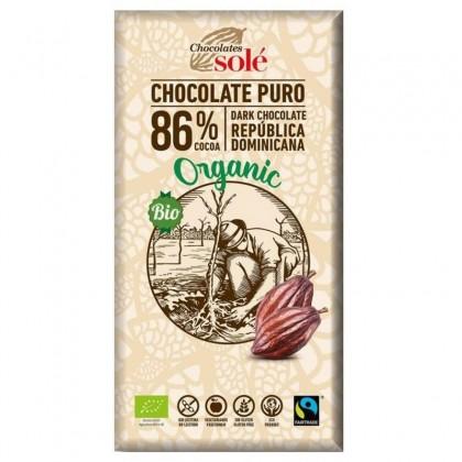 Chocolates Sole BIO Ciocolata neagra 86% cacao 100g