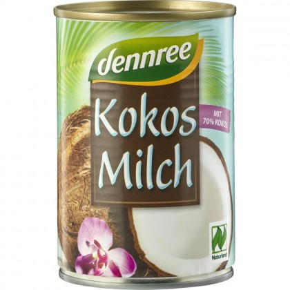 Dennree Lapte de cocos 70% 400ml